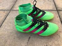ADIDAS ACE 16.1 PRIMEKNIT FG SOCK FOOTBALL BOOTS MENS GREEN AQ5151 Size 7 Men Used