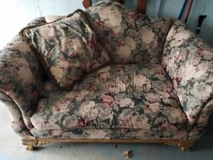 Couch love seat and wing back chair