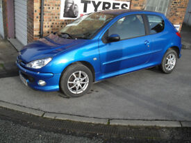 PEUGEOT 206, 75,000 MILES MOT MARCH 18, VERY CLEAN EXCELLENT CONDITION. £1,500 0.N.O