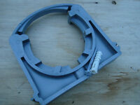 high quality PIMTAS PVC pipe fittings, pipe clamps 63mm and 90mm
