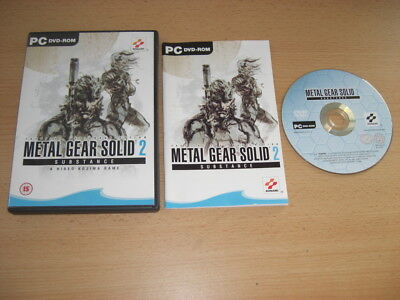 METAL GEAR SOLID 2 Pc DVD Rom MGS2 MGS SUBSTANCE - FAST DISPATCH ()
