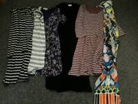 Woman's clothes shoes bundle 10 - 12 medium size necklaces and earnings