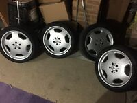 "Mercedes 18"" 8j 5x112 Monoblock Alloys with Tyres"