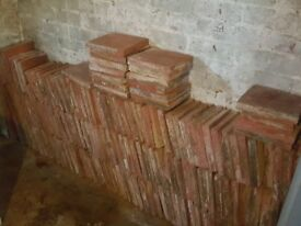 196 Old (Victorian?) Reclaimed Quarry Tiles
