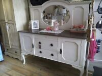 REDUCED PRICE - Big Antique Sideboard with back Mirror.