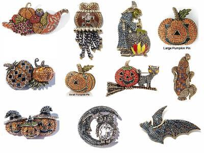 Heidi Daus Pin Autumn Pumpkin Halloween Pat Witch Owl Price range $69.95-$169.95 - Heidi Halloween