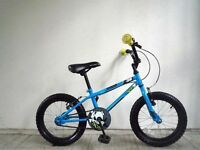 """(2141) 16"""" 9.5"""" APOLLO ACE 38 BOYS GIRLS KIDS CHILD BIKE BICYCLE; Age: 5-7; Height: 105-120 cm BLUE"""