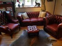 Leather lounge 4 piece suite sofa stunning!