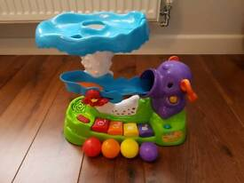 Vtech pop and play elephant ball popper complete with 4 original balls