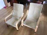 2x Ikea kids chairs (no covers)