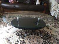 Glass coffee table from SCS