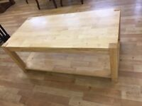Solid oak parquet style coffee table