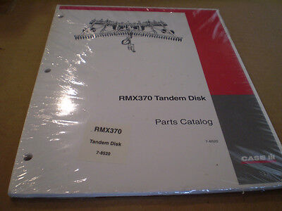 Case Ih New Rmx370 Tandem Disk Parts Catalog