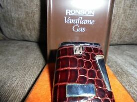 Ranson Varaflame Crocidile Calf Skin Gas Lighter