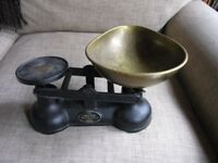 Vintage Set Of Salter Cast Iron Weighing Scales Weymouth