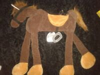 BROWN SUEDE RIDE ON HORSE EXCELLENT