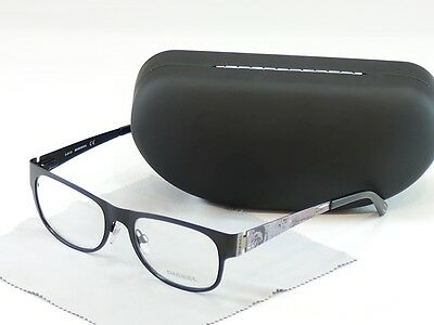 Diesel Eyeglasses Frame DL5026 002 Black Metal Top Quality 52-18-140
