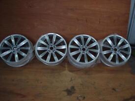 4 x 19 Inch Genuine VW Lugano Alloy Wheels