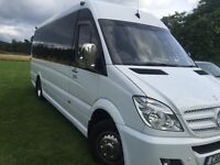 Minibus Hire with driver, airport transfers, in our executive and luxury vehicles