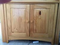 Solid wood copboard/storage unit,