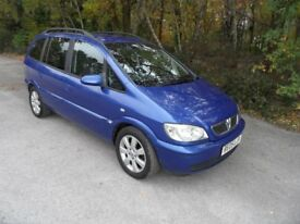 Vauxhall Zafira 1.6 Breeze 2005/05plate, 7 Seater,long Mot, metalic energy blue