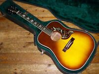 Gibson Hummingbird dreadnought acoustic style 1970s made in Japan with Martin case