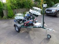 Promatice Huntsman XP simulated game trailer. Clay pigeon traps. Brand new, totally unused.