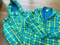 Four Square Ladies Snowboarding Jacket Size L with matching quilted shirt