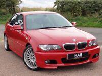 BMW E46 330ci M Sport, Auto, 2003, 92k Miles, MOT: 1 Year (No Advisories), FSH, Sat Nav, Imola Red