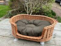 Wicker Dog Bed New