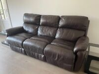 3-seater Leather Sofa Power Recliner