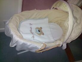 Mothercare moses basket plus stand