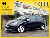 VAUXHALL CORSA 1.2 STING 3d 69 BHP Apply for finance Online today! (black) 2015