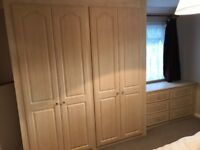 Fitted wardrobe and drawer set perfect condition