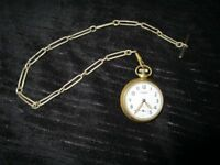 Combat pocket watch and silver chain