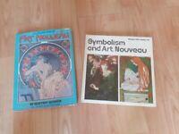 2 x vintage art nouveau books