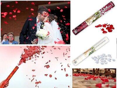 CANNONE SPARA CORIANDOLI PETALI ROSSI MATRIMONIO Tubo Wedding SAN VALENTINO