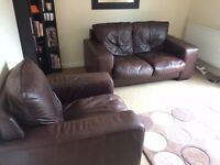Two seater leather sofa + leather couch