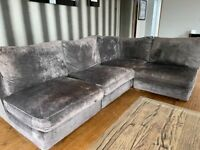 Corner sofa - dark grey