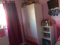 Girls 2 door 2 drawer wardrobe