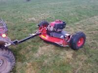 Quad atv compact tractor logic tm 120 grass field paddock cutter mower