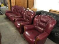 Leather 3 11 sofa set