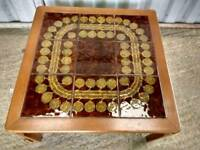 Retro Tiled Wooden Square Coffee table
