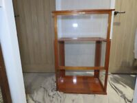 Oertling scales glass and wooden display case/cabinet