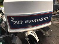 Boats evinrude 70hp outboard engine.