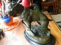 5.4 kg .Sign.Charles Valton Bronze figure