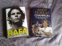 2 books on 2 tennis champions, ANDY MURRAY and RAFA NADAL.