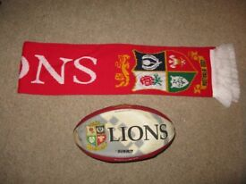 Rugby Union Lions Tour Australia Scarf and Ball