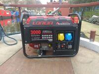 LONCIN LC3000-AS 3.0KVA/2.5KW FRAME MOUNTED PETROL GENERATOR