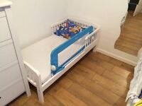 White wooden kids bed